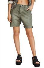Free People Utility Harem Shorts - Army