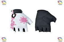 Ladies Sports weight lifting Cycling Gym Bike Fishing Half finger Gloves XL PINK