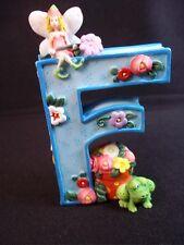 Mary Engelbreit resin Letter F frog fairy flowers blue 1999