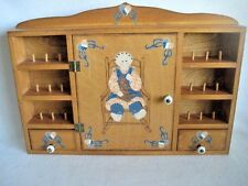 Vintage Sewing Wall Cabinet Chest Country Style Homemade
