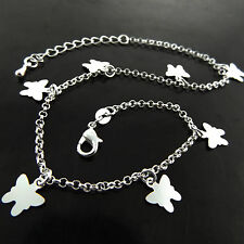 FSA753 GENUINE REAL 925 STERLING SILVER SF GIRLS BUTTERFLY CHARM BRACELET BANGLE