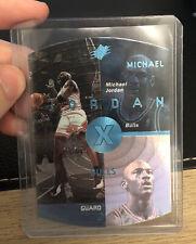 1998 SPX michael jordan blue platinum die cut #6 Chicago Bulls