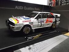 AUDI QUATTRO RALLY GB RAC 1984 Sutton Mikkola #3 BBS PIRELLI SUNSTAR SST 1:18
