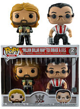 FUNKO POP WWE MILLION DOLLAR MAN TED DIBIASE AND I.R.S. EXCLUSIVE 2 PACK SET