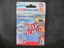 1 Pack a. 4 Stück tesa POWERSTRIPS max. 200g POSTER Klebestreifen Nr. 58827 (br)
