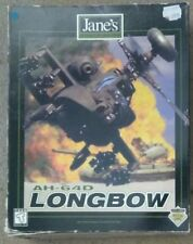 Jane's AH-64D Longbow- IBM-PC  - Rare -  Boxed  - 1996 - Big Box vintage 2 CDs