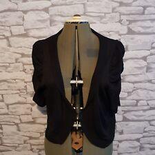 Simply Be black  metallic sparkly ruched sleeve BOLERO SHRUG plus size 20 uk