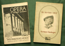 "2x H M V  Plattenkatalog; German Catalogue 1949; ""OPERA At Coven Garden""  B18"