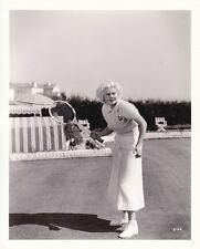 JEAN HARLOW Original CANDID Tennis Vintage 1930s APGER Stamped MGM DBW Photo