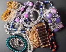 Jewelry Lot 15 Sparkle Stretch Bracelets, Beaded, Wear, Craft, Sell, Share Sissy