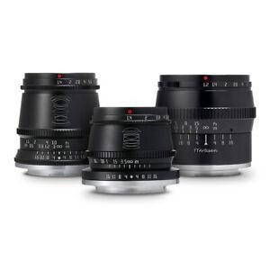 TTArtisan Lens Set 17mm+35mm+50mm for Micro Four Thirds (M4/3, MFT) =Black=