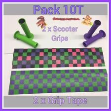 CLEARANCE SALE  2 PAIR Scooter Handle Grips + 2 X  Grip Tape Check