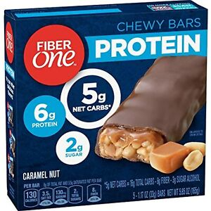 Fiber One Protein Chewy Bars, Caramel Nut