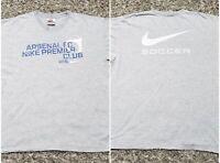 Arsenal FC Nike Premiere Club Soccer Futbol Gray Tshirt Men XL Futbol