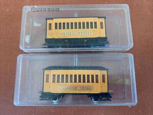 2 x Egger Bahn Western Union Passenger Coaches - HOe / 009 Gauge