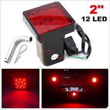 2inch Trailer Hitch Mount Tail Light 12LED Tow Bar Lamp Turck w/ Pin Brake Light