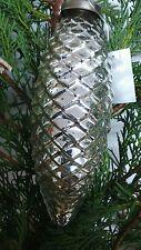 Christbaumkugel *Weihnachtskugel *Bauernsilber* Tannenzapfen *silber*