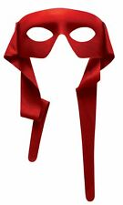 Masked Man Mask Eye Mask w Ties Red Bandit Superhero Adult Costume Accessory
