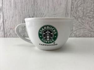 Starbucks Cappuccino Mug / Coffee Mug, Mermaid logo in green, 2010.