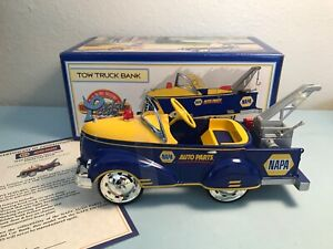 1940 Gendron Tow Truck Pedal Car Bank Die-Cast 1/6 Scale (New) Napa Auto Parts