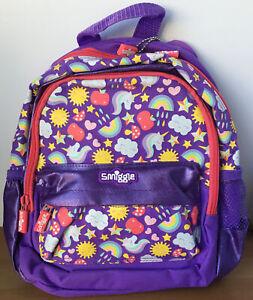 Smiggle Girl's Teeny Tiny Nursery Preschool Purple Backpack Rucksack Bag - New