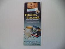 advertising Pubblicità 1979 CAMOMILLA FILTROFIORE BONOMELLI