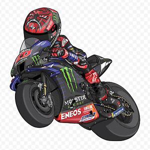 Sticker Fabio Quartararo MotoGP Yamaha 2021 Cartoon