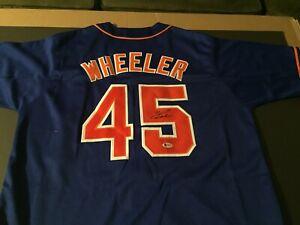 Zack Wheeler Autographed Signed Mets Custom Jersey - Beckett