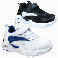 Kids Boys Girls Trainers Running School Touch Strap Sneaker Sports Shoes Sizes