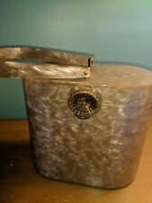 New listing Antique Vintage Taupe Lucite Canteen Style Handbag Purse Bag by Wilardy Mirrored