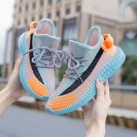 Korean Women's Breathable Jogging Shoes knitting Walking Sneaker Sports Shoes
