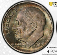 Rainbow Toned MS67 1946 S Roosevelt Dime PCGS Fresh From PCGS! Should Be MS68