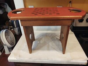 """Handmade Bench Chess Checkers Wood 15"""" Tall 23.5"""" Wide"""