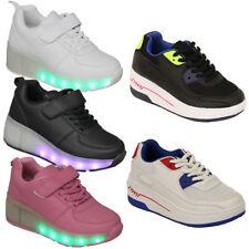 Scarpe bianche con luci per bambini dai 2 ai 16 anni