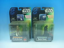 Hasbro 1997 STAR WARS Electronic Lightsaber Darth Vader & Obi-Wan Kenobi EMS JP