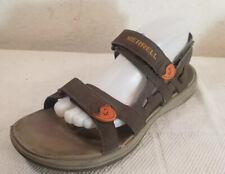 MERRELL Boulder Burnt Orange Men's Sz 9 Gray Sport Sandals Shoes
