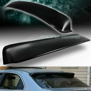 FOR ACURA TSX 4-DR/SEDAN BLACK ABS PLASTIC REAR WINDOW ROOF VISOR SPOILER WING