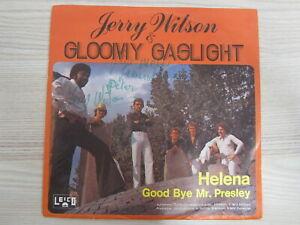 Single / JERRY WILSON & GLOOMY GASLIGHT / MIT AUTOGRAMM / RARITÄT /