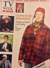 TV Week Magazine Johnny Carson 30 Years OF Antics May 17 , 1992 011218nonrh