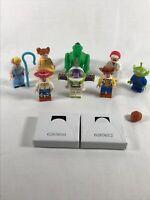 Lego Toy Story 4 Minifigure Bundle Rex Gabby Buzz Jessie Bo Peep Caboom Woody