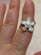 Anello in argento 925 e perla coltivata, Cristian Lay