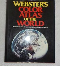 WEBSTER'S COLOR ATLAS OF THE WORLD 300 PICS CHARTS MAPS HB DJ  COFFEE TABLE