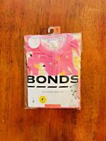 Bonds Baby Girl Cockatoo Pink Short Sleeve Zip Romper Size 00 BNIP