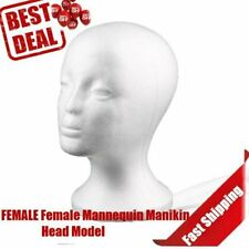 Polystyrene Women Styrofoam Foam Mannequin Head Stand Model Dummy Shop Display T