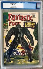 Fantastic Four #64 (1967) CGC 9.2 -- O/w to white pages; 1st Kree Sentry; Lee