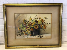 Antique MO Artist Alice Esther Pollard Watercolor Painting Still Life Flowers
