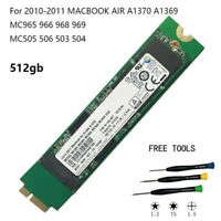New 512GB SSD for 2010 2011 MacBook Air A1369 EMC 2392 2469 A1370 EMC 2393 2471