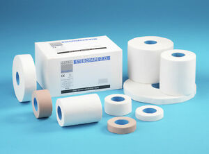 Steroplast White Zinc Oxide tape sports strapping medical clinical ZO 2.5cm x 5m