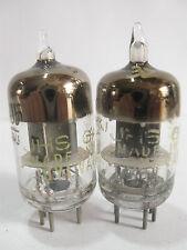 2 matched 1953-54 Sylvania JHS-6AJ5 (6AK5,5654,403B,6J1)tubes- TV7D tested@32,32