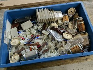 Aviation Aircraft Job Lot Tray of Plastic Parts Filters Ideal for Model Making